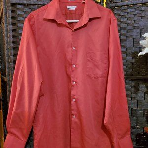 Van Heusen Size 16 1/2 34/35 Salmon Dress Shirt